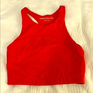 Outdoor Voices TechSweat Red Sports Bra - Size XS